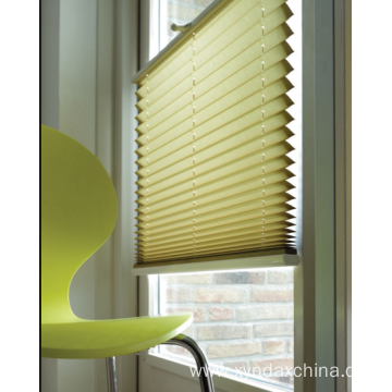 Cordless pleated window shades for child safety